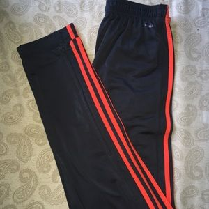 Red striped Adida joggers